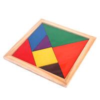 Tangram Géométrie Puzzle Jeux Jouet Bois Unisexe Bébé Enfant Education Cadeau NF