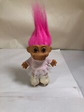 "Troll Dolls 5"" Russ Ice Figure Skater Skating Neon Hot Pink Hair. Rare. Vintage"