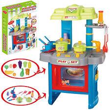 GRANDE 39pc per Bambini Ragazzi Set da cucina giochi di simulazione, prescuola Con Luci & Suono Cibo Divertente Nuovo