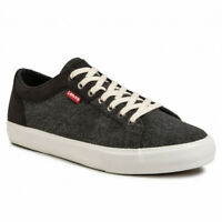 LEVI´S WOODWARD 38099-1601 SNEAKERS MEN'S SHOES GREY CASUAL-WEAR GYM SIZE UK 6.5