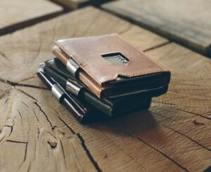 EXENTRI RFID Wallet - superslim, trifold, premium leather, with RFID Blocker