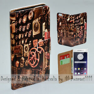 For OPPO Series - Old Engine Room Theme Print Wallet Mobile Phone Case Cover