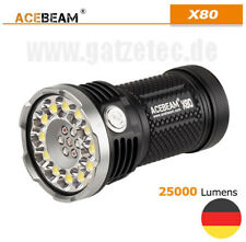 AceBeam X80 LED Taschenlampe 25000 Lumen rot,grün,blau und UV Licht CREE XPH 50