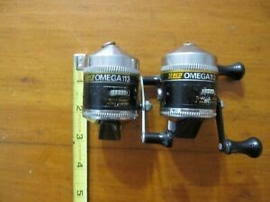 Lot of 2,Vintage Zebco Omega 113 Spin Cast Reels,Serviced,Ready To Fish! USA