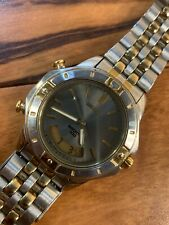 Vintage Men's Seiko Sports 100 Silver & Gold Toned Watch Model H801-7079
