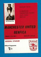 Postcard Manchester United 1968 European REPLAY @ Arsenal not played