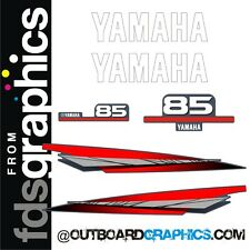 Yamaha 85hp two stroke outboard graphics/sticker kit