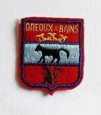 BLASON Brodé Ecusson ville Gréoux les Bains - hauteur 6 cm