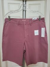 New SONOMA Men Flexwear -Stretch Flat-Front Shorts Size 34. Rose Color.