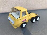 Tonka USA 55250 Lowboy Semi Truck Flatbed NOTrailer Yellow Pressed Steel Vintage