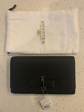 Delvaux $1600 Grained Leather Le Mutin Wallet NEW AUTHENTIC