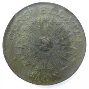 1783 Nova Constellatio Copper Colonial Coin - NGC AU Details (NCS) - Rare!