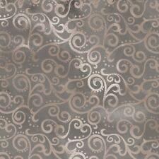"Quilting Treasures Ombre Scroll 108"" Wide Back 24775 K Stone BTY Cotton Fabric"