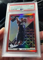 2019-20 Panini Donruss Optic Zion Williamson The Rookies RED Prizm #29/99 PSA 9