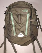 The North Face Surge Backpack, Brown And Teal Green Mint Condition