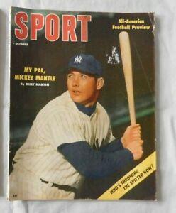 Mickey Mantle New York Yankees - October 1956 SPORT Magazine