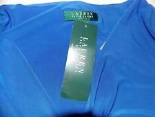 New women's RALPH LAUREN Faux-Wrap Jersey Dress Size 8 Island Blue ret $ 134