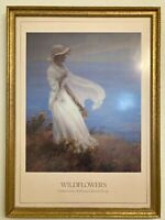 """Lovely Charles C. Curran """"Wildflowers"""" Lithograph Signed & Framed 1988, MB355"""