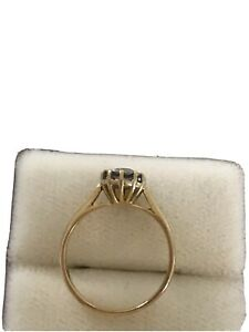 18ct gold diamond solitaire ring Size M