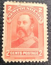 NEWFOUNDLAND 2 CENTS RED SG87 STAMP MH