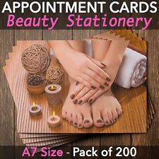 Appointment Cards for beauty salons,therapists, nail technicians Pack of 200