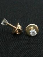 0,50 Cts Ronde Brillante Couper Diamants Clous Boucles d'oreilles En 750 18K Or