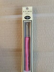 Tulip ETIMO Rose 4.50mm - Crochet Hook with Cushion Grip new in box