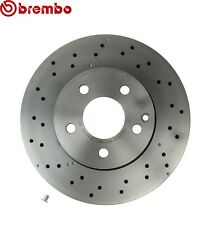 Brembo Front Coated Cross Drilled Disc Brake Rotor 322mm For Mercedes W204 W212