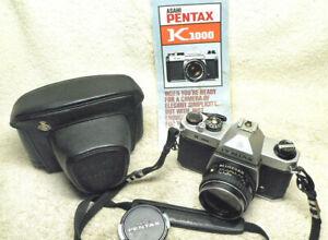 Nice PENTAX K-1000 K1000 35mm SLR Film Camera w/50mm Lens + EXTRAS. Working Gr8t