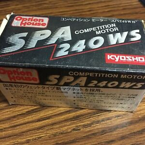 Kyosho W-1011 Option House SPA 240WS Competition Motor Vintage RARE Mint FreeS&H