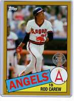 Rod Carew 2020 Topps 1985 35th Anniversary 5x7 Gold #85-23 /10 Angels