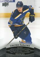 2015-16 Upper Deck Overtime Hockey #167 Colton Parayko RC St. Louis Blues