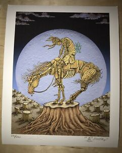 EMEK End Of Trail Print Poster Doodled 8x10 Mini Ween Red Rocks Colorado Denver