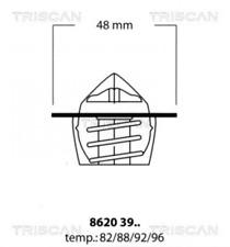 Thermostat, Kühlmittel TRISCAN 86203988 für CHEVROLET DAEWOO OPEL VW