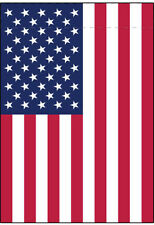 12x18 Inch Garden Flag Banner Sign - USA American (Sleeve for Garden Pole)