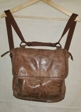 THE SAK Convertible Brown Distressed Leather Backpack Crossbody Bag (Read)