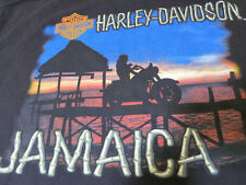 Rare Harley- Davidson Jamaica Sunset Tiki Biker Girll Shirt L