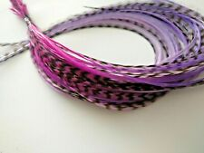 Ombre Hair Long Hair Extensions 15 Long Salon Quality Real Feathers Pink Lilac