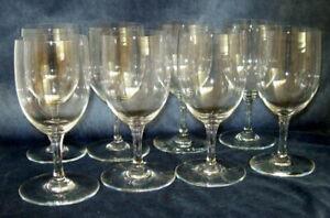 """8 SIGNED BACCARAT 6"""" CLARET WINE GLASSES ~ Simple Elegance!"""