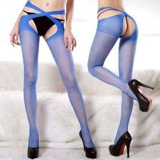 Thigh Body Stay up Long Sheer Top High Silk Stocking Women Socks Blue