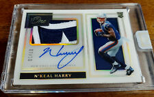 7/10 N'KEAL HARRY 2019 Panini One Autograph Auto Premium Logo Patch Rookie RPA