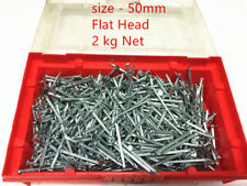 2 KG  CONCRETE NAILS 50 x 3.6mm FLAT HEAD Zinc Plated Steel -Brand New in Box