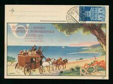 V70 - ITALIA - 1947 CARTOLINA SOCIETA' FILATELICA COSTA D'ORO SANREMO