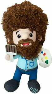 Licensed Bob Ross Character Plush Figure Doll Happy Little Painting Gift Fan 6.5