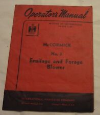 IH McCormick No. 3 Ensilage and Forage Blower Manual