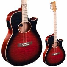 Lindo Karma Fire Electro Acoustic Guitar Slim Body | Blend Preamp | Black / Red