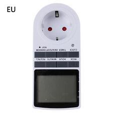 1pc Presa Elettrica Temporizzata Timer Programmabile Settimanale Analogico EU