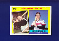 Dick Schofield / Dick Schofield Father Son 1985 TOPPS Baseball #138 (MINT)