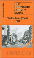OLD ORDNANCE SURVEY MAP CHELTENHAM EAST 1884 COLOURED EDITION