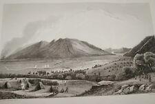 SUISSE NAPOLEON PASSAGE LINTH BITTEN GRAVURE 1838 VERSAILLES R1026 IN FOLIO